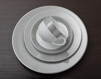 سرویس غذاخوری 102پارچه چینی زرین ایران سری ایتالیااف طرح پالادیوم