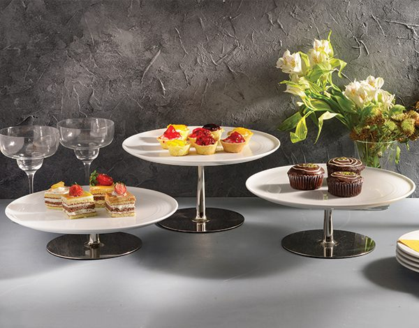 ظرف کیک پایه دار چینی زرین ایران