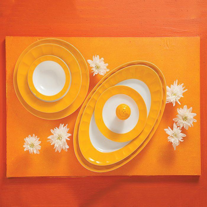 سرویس غذاخوری 29 پارچه چینی زرین ایران سری نئوکلاسیک طرح نارنج